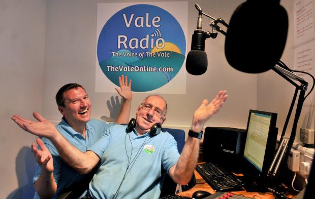 ON AIR: Presenters Chris Marsden and Dougie Weake who helped launch Vale Radio at Haxby Memorial Hall