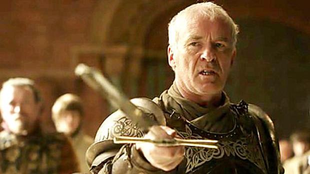 Ian McElhinney in his armour as the King's guard, Barristan Selmy in Game of Thrones