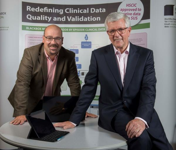 Graham Poulter, the managing director of BlackBox Medical, right, with technical director Simon Kelshaw
