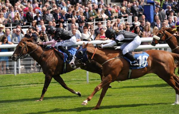 Blaine wins the Symphony Group Stakes at York. Picture: Anna Gowthorpe