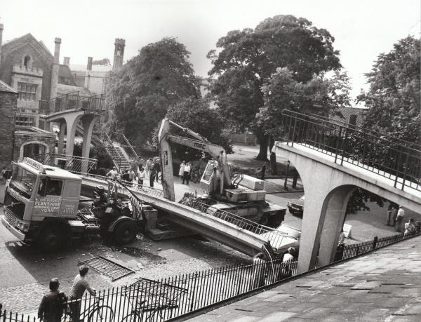 The picture taken on August 21, 1984, of the accident outside St Peter's School