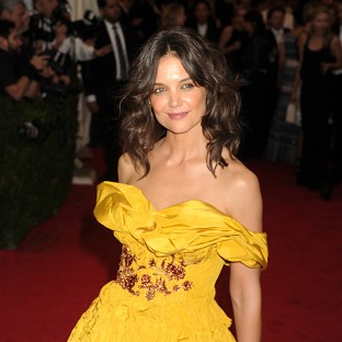 Katie Holmes says she was nervous as a mother at first