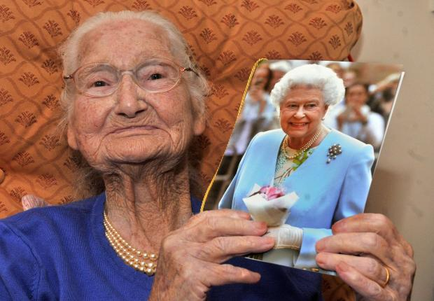 Nellie Nacey who celebrates her 100th birthday at Woolnough House York.
