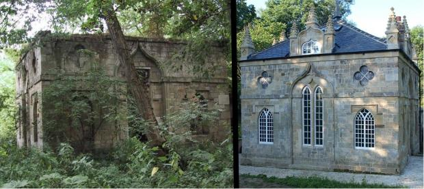 BEFORE AND AFTER: Howsham Mill, left, before its restoration, and right, back to its former glory and generating electricity for the National Grid