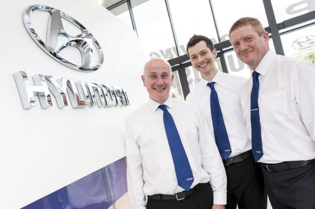 Mark Goddard, Dan Pegg, and Andy McGevor from the Vantage Stockport team.