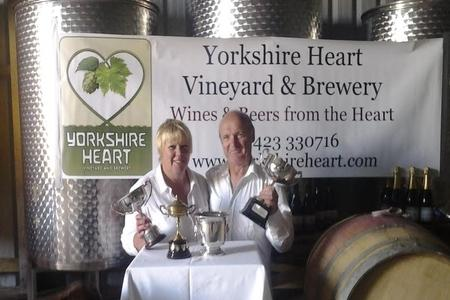 Yorkshire Heart owners Gillian and Chris Spakouskas with their awards