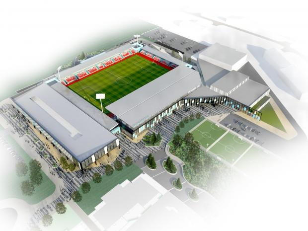 NEW STADIUM: But Knights would be financially disadvantaged, says club chairman John Guildford