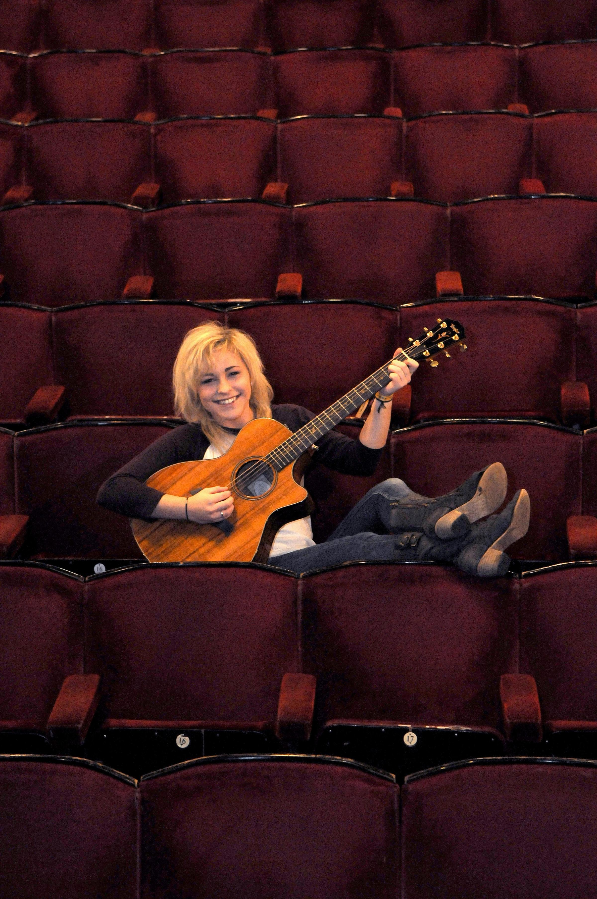 he Voice finalist Beth McCarthy puts her feet up at the Grand Opera House in York