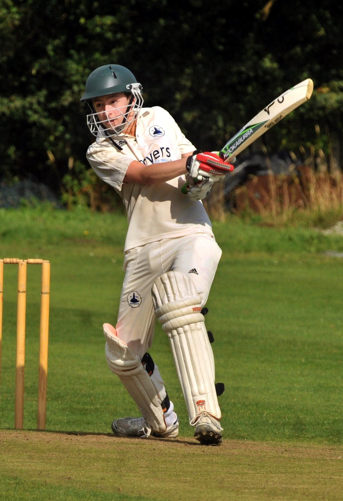 Dunnington batsman Sam Grey in action against Bishopthorpe.