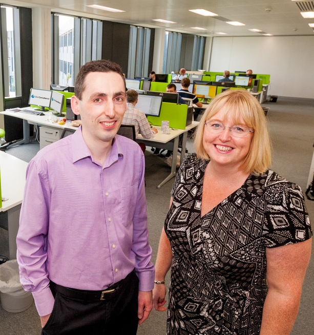 Tracey Smith, managing director, York Science Park with Daniel Woolfson, development manager, Star Compliance
