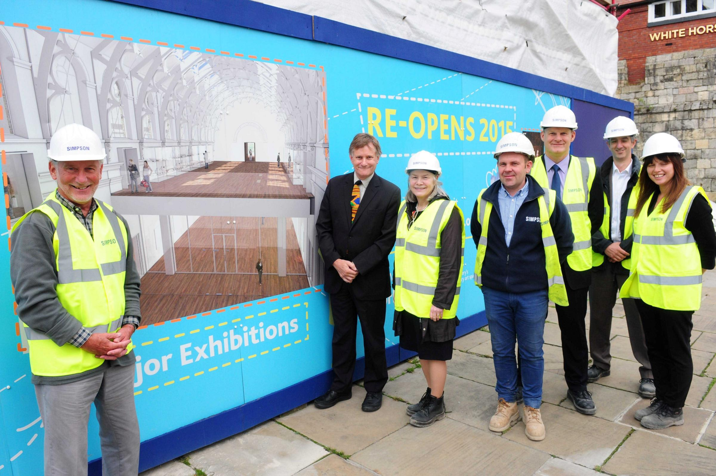 Hugh Bayley MP pictured on a visit to York Art Gallery, pictured next to Janet Barnes and her colleagues associated with the revamp.