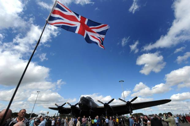 Allerton Castle will be the site of a fly-past of a Lancaster bomber next weekend