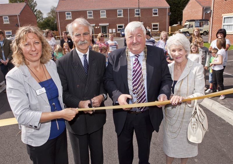York Housing Association's chief executive Julia Histon, and chairman, Jolyon Harrison, join the Lord Mayor and Lady Mayoress of York (Cllr Ian and Patricia Gillies) at the opening of Jubilee Court in Elvington