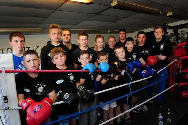 Youngsters from Jorvik Boxing Club before the closure of their home at the old Manor School site