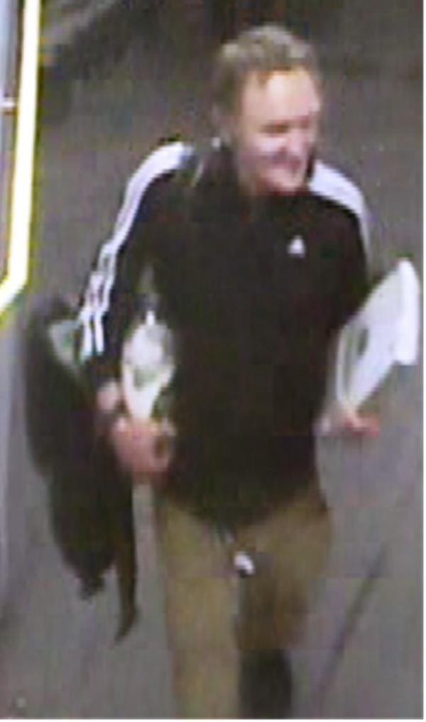 The CCTV image of a man police are