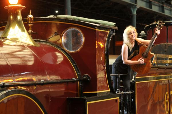 York musician Beth McCarthy  prepares for this Saturday's MOR Music Festival at the National Railway Museum, York