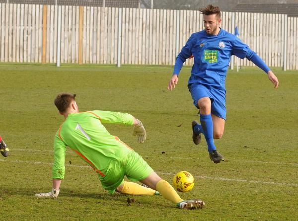 Striker Joe Danby is still battling against injury as Pickering Town bid to end a dismal run