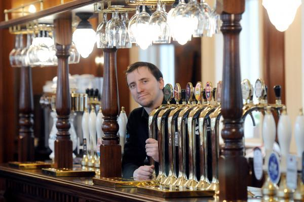 Co-manager Tom Proctor at The Harrogate Tap