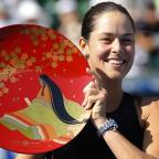 York Press: Ana Ivanovic secured her fourth WTA title of the year in Tokyo on Sunday (AP)