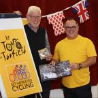 York Press: Local resident Stef Bennett, (left)who organised the village's TDF celebrations, and Hambleton council director Dave Goodwin