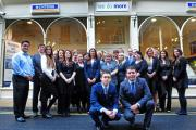 Staff at Hunters estate agents in York after a private service today in memory of Nicole Waterhouse. Picture: Anthony Chappel-Ross