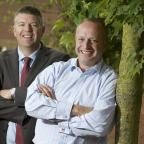 York Press: Finance Yorkshire Investment Manager Ian Atkinson and Tim Betteridge, Managing Director of Pinnacle Marquees.