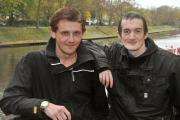 Ben, left, and Gavin Barker, who discovered they were brothers while sleeping rough