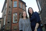 Nicky Gladstone, left, of Carecent and Steph Brodie, of Never Give Up, outside Carecent in St Saviourgate, York
