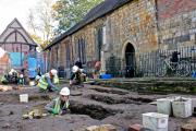 The archeology dig at All Saints church, North Street, York.