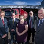 York Press: Pictured from left to right are William Thompson's (York) managing director Andrew Richardson; Harrowells Solicitors corporate finance partner Philip Lewis-Ogden; JWPCreers corporate finance associate Katy Booth; William Thompson's (York) Ltd