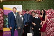 Andrew Castle, John Morgan, Adam, Jenny and Josh Collyer and Cerebra ambassador Samira Mohamed Ali at the awards ceremony at the House of Lords