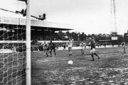 TUCKED HOME: The memorable moment Keith Houchen scored the last minute penalty that saw York City beat Arsenal