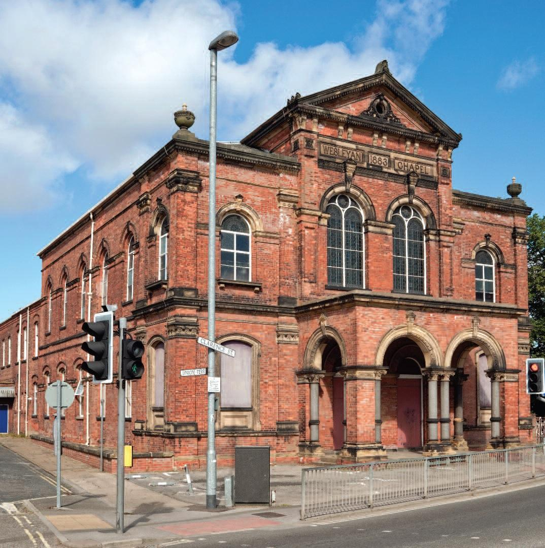 The Wesleyan Chapel, which is to become flats and a Sainsbury's