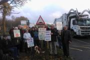 Flashback to demo against recycling plant earlier this week