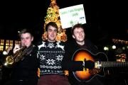 Timber Wolf, a group of students from University of York, who sang in Coppergate for Christmas celebrations and to raise money for SASH, which helps young homeless people