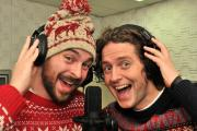Huntington School teachers Ian Wilson, left, and Robin Parmiter who have recorded a new song  for the festive season