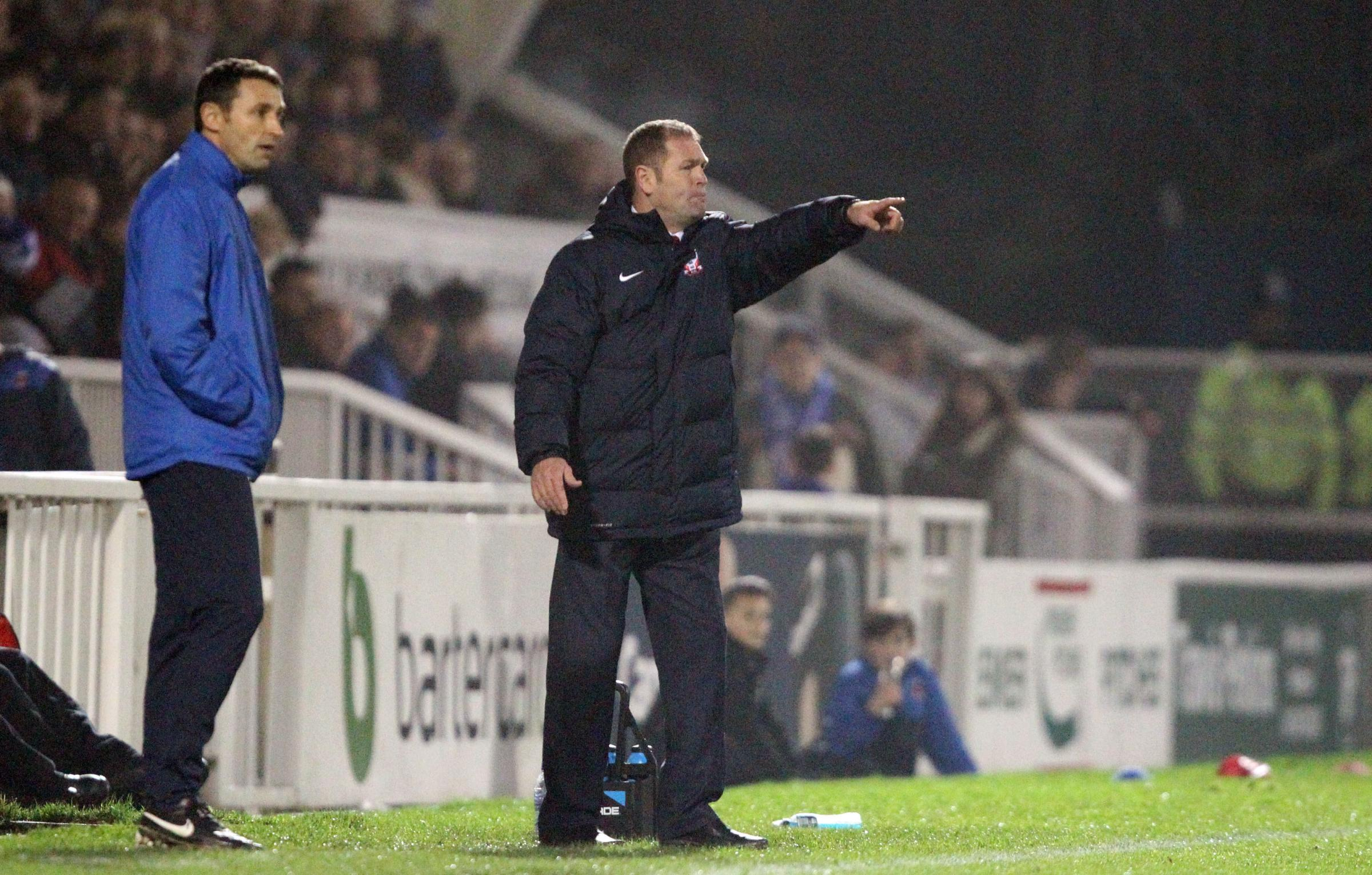 MAKING HIS POINT: York City chief does not believe his team have a weakness in defending corners