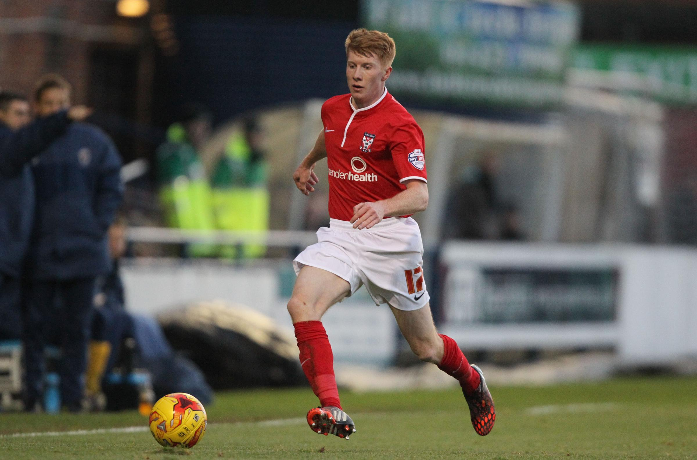 FORWARD THINKING: York City boss Russ Wilcox is pondering whether to use right-back Brad Halliday further up the pitch