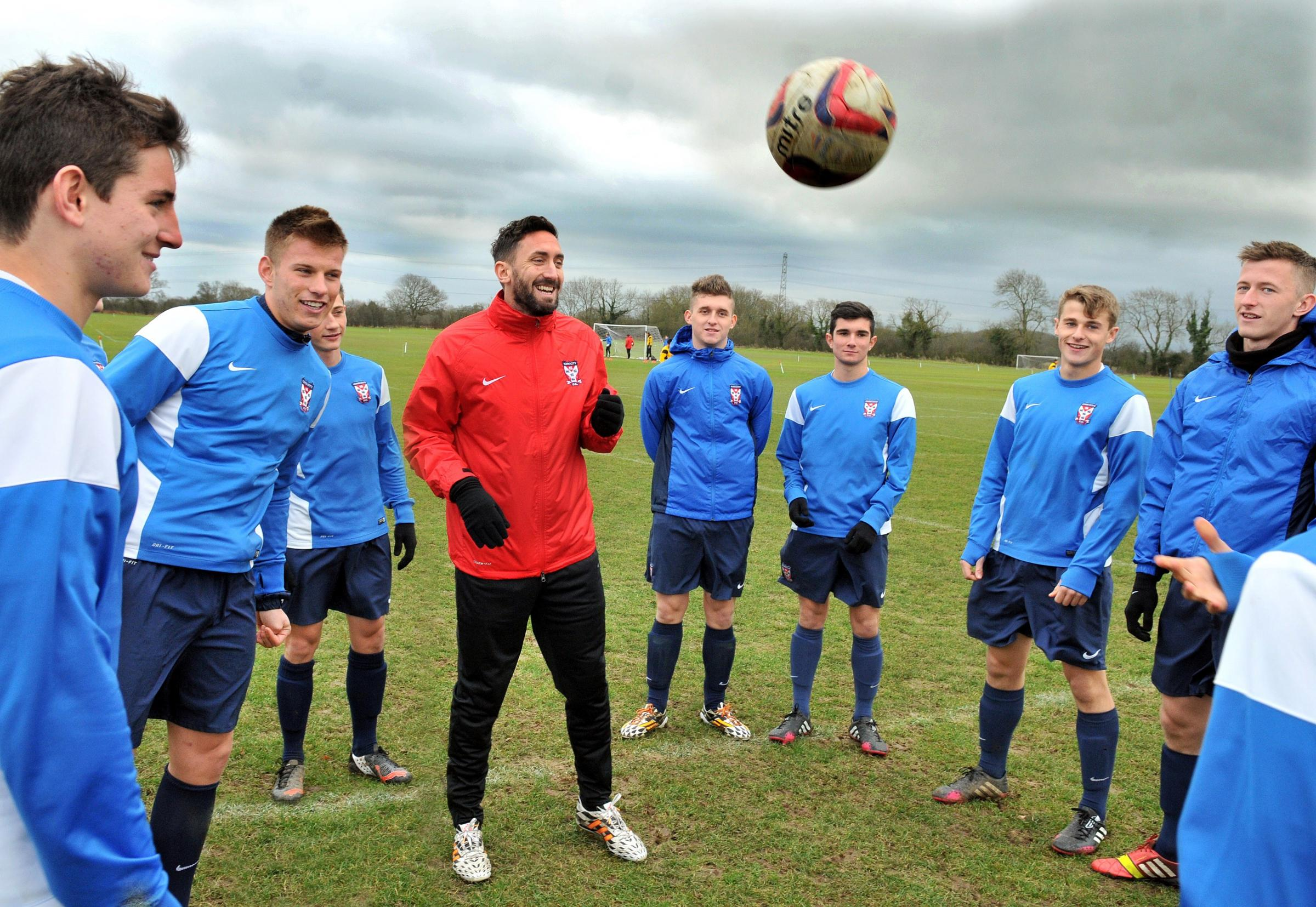 PLAYING COMEBACK York City academy coach Jonathan Greening has re-registered as a player