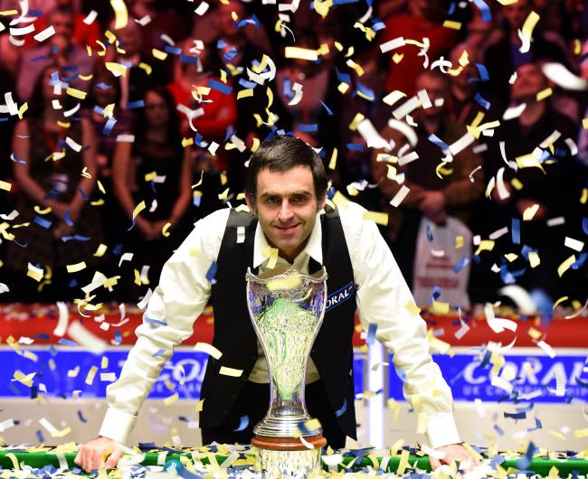 RIGHT ON CUE: Ronnie O'Sullivan won the 2014 Coral UK Championship