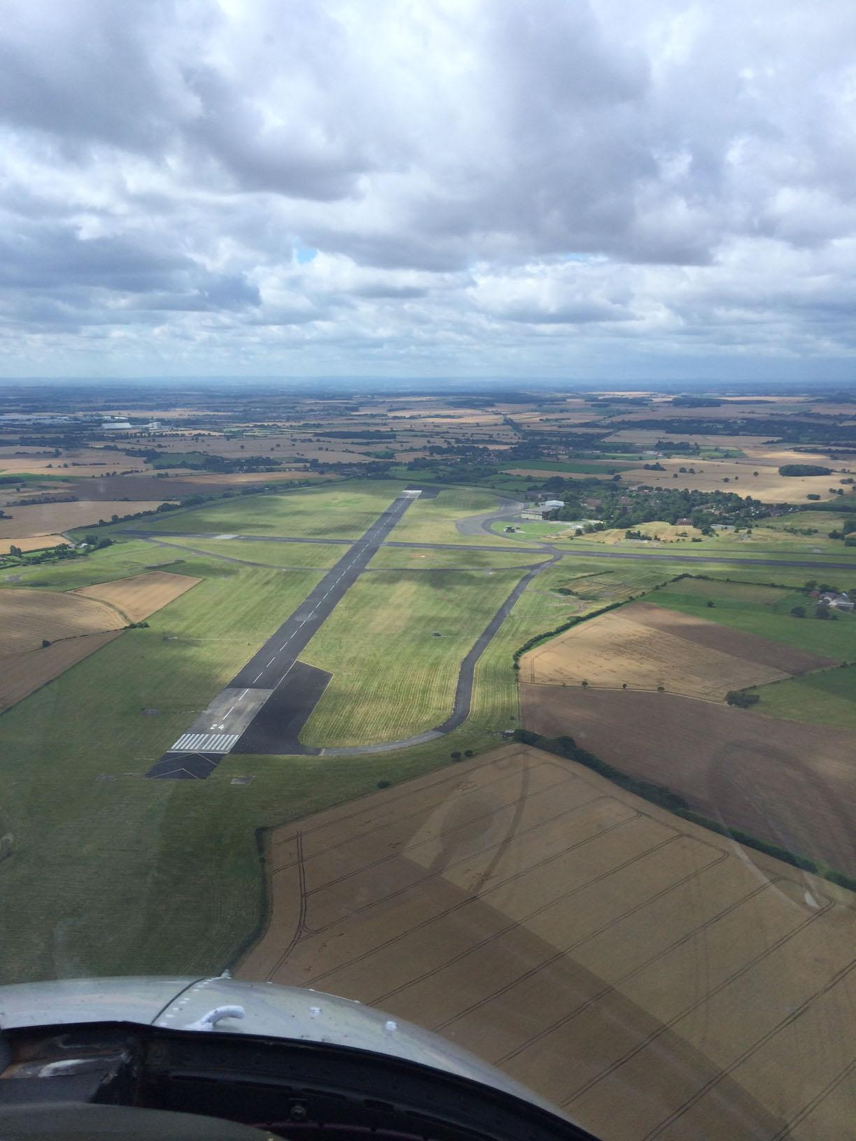HIGH HOPES: The airfield at Church Fenton from the air