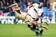 CRASH LANDING: Charlie Taylor, pictured above, had given Leeds the lead at Wolves but United were mauled at the finish