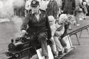 Geoff Bird, of Poppleton, with passengers Hayley and Mark Welsh and Bryony Jackson at the 1988 Fulford Show