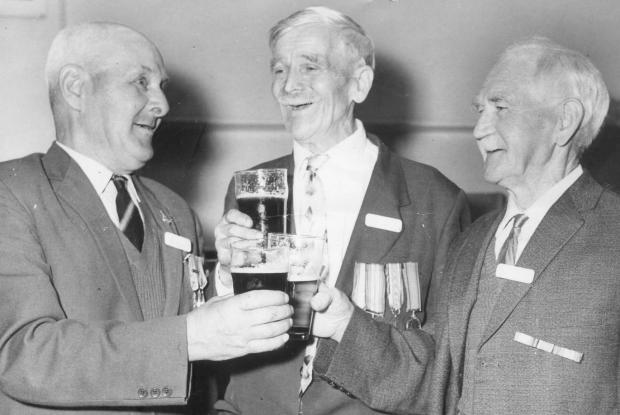 York Press: Billy Hardy on the right at a Wagoners' reunion in the 1960s