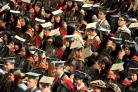 The degree ceremony at the University of York last year