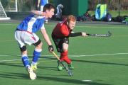 RICH REWARD: City of York men's I player Rich Jenkin finds the net in the first half of the 7-1 success against Newcastle University I