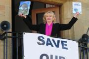 County Councillor Val Arnold pictured in 2011 when Helmsley Library was also under threat
