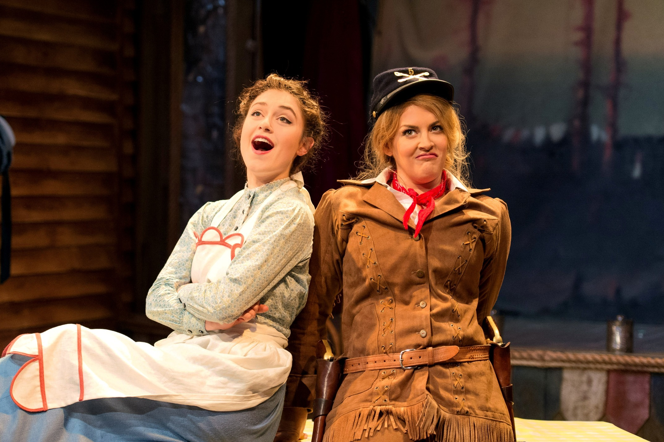 Jodie Prenger and Phoebe Street in Calamity Jane