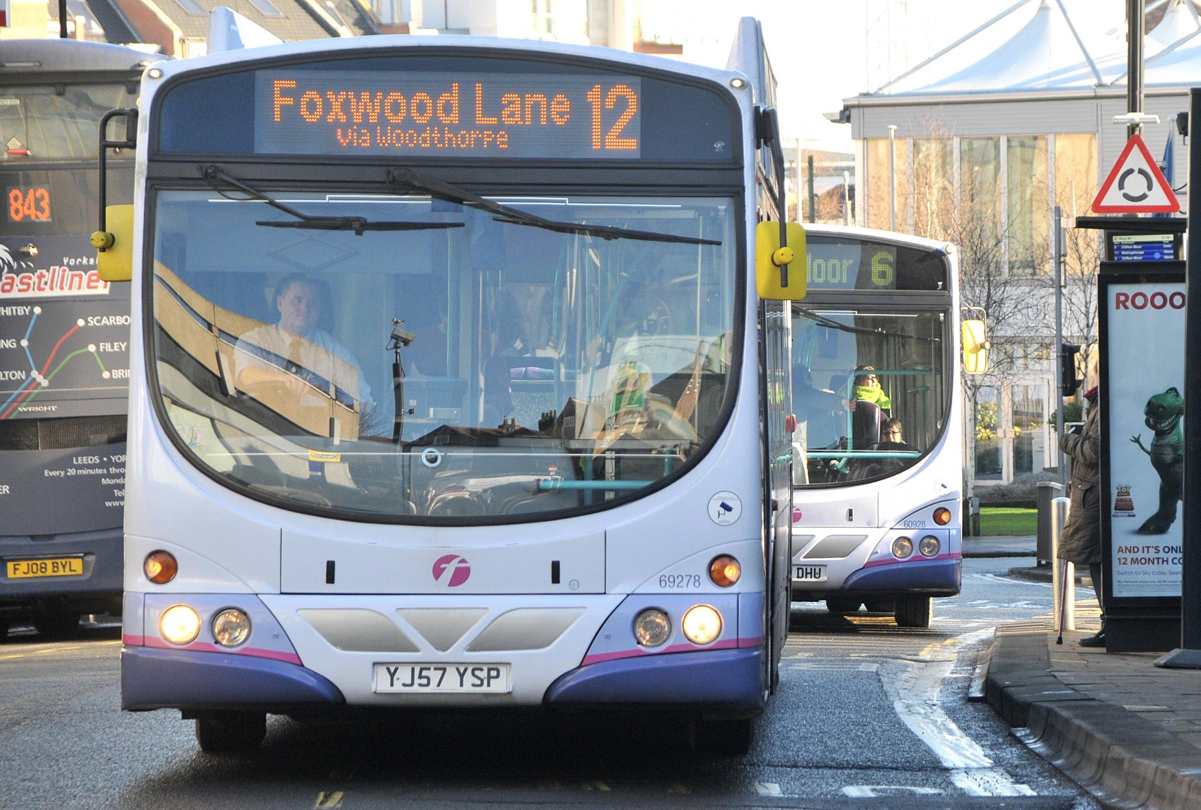 The No 12 bus to Foxwood Lane, York - one of a number of bus routes which could be cut