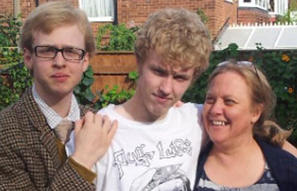 SUPPORT: Tristan Powell with his brother Oscar and mum Pia-Mari.
